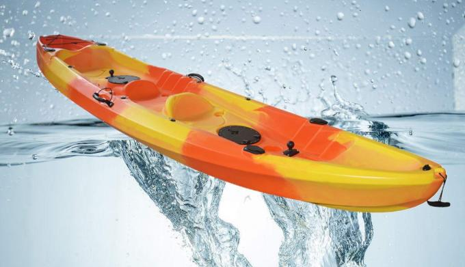 New Design LLDPE HDPE 2+1 Family Kayak Touring Boat for Recreation