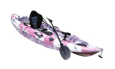 Solo Sea Fishing Recreational Touring Kayak Pink Camo 9' Length With A Deluxed Seat
