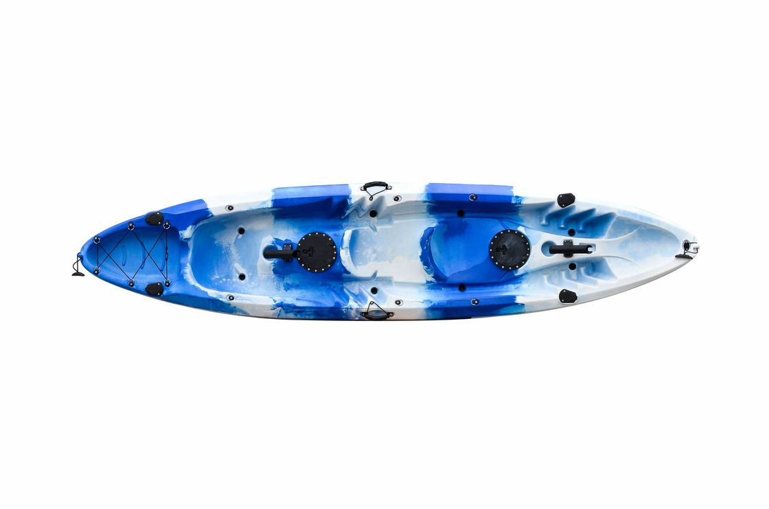 LLDPE Double Recreational Touring Kayak , Two Person Fishing Open Water Kayak Large Cockpit