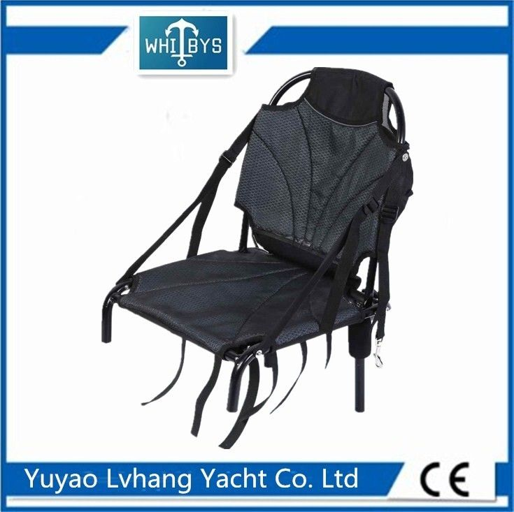 Logo Painting Kayak Boat Accessories Durable Aluminum Folding Fishing Chair