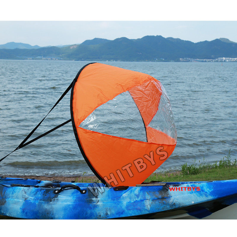 "42"" Kayak Rail Accessories ,  Wind Paddle Scout Sail Universal Kayak Accessories With Clear Window"