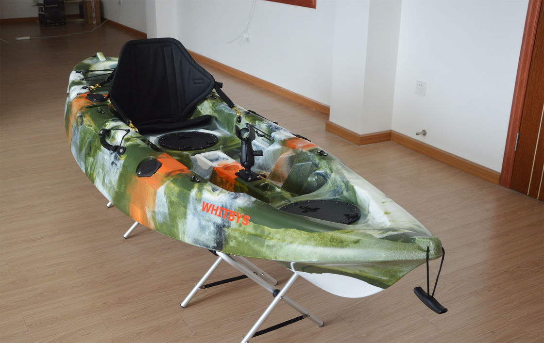 2.7M Sit On Top Short Recreational Touring Kayak  Army Camo Painted Open Hull